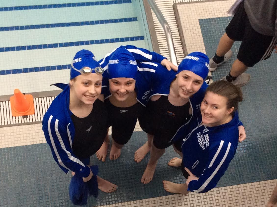 Winning relay team